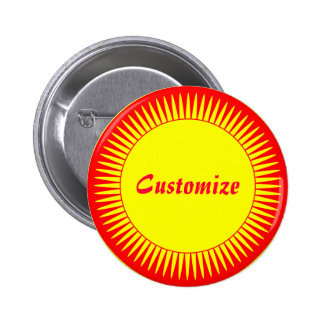 Sun Ray Template 6 Cm Round Badge