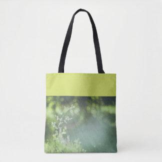 Sun rays and bokeh tote bag