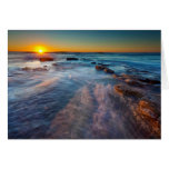 Sun rays illuminate the Pacific Ocean Greeting Card