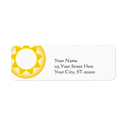 Sun Return Address Label