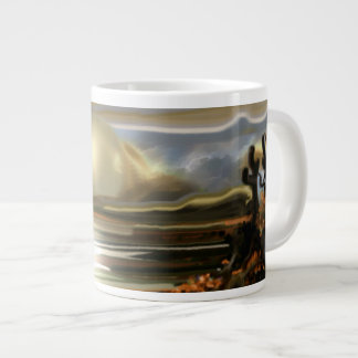 Sun Rise On the Desert Southwestern Abstract Art Large Coffee Mug