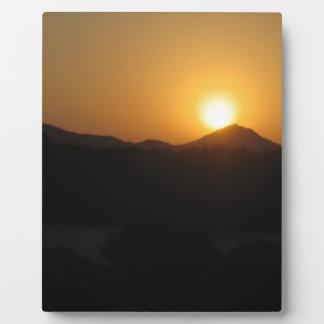 sun rise sun set photo plaque