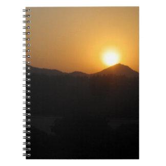 sun rise sun set spiral notebook
