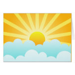 Sun Rising Over Clouds Greeting Card