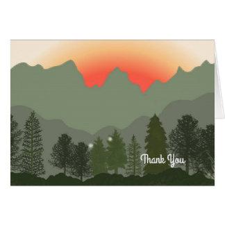 Sun Rising Over The Mountains Card