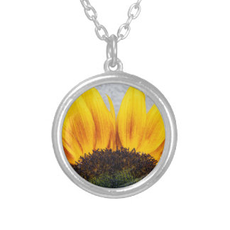 Sun rising silver plated necklace