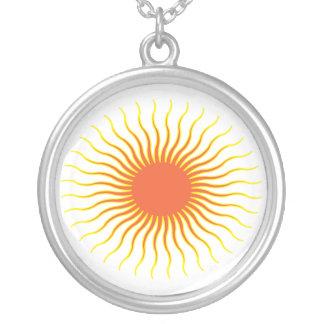 Sun Round Pendant Necklace