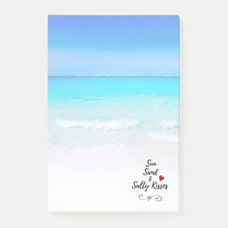 Sun Sand and Salty Kisses Tropical Beach Post-it Notes