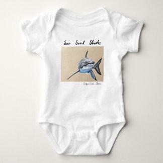 Sun Sand... Little Sharks! Baby Bodysuit