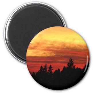 Sun Set 6 Cm Round Magnet