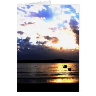 Sun Set at Weston Super Mare Greeting Card