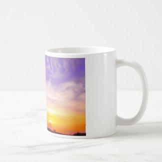 sun set basic white mug