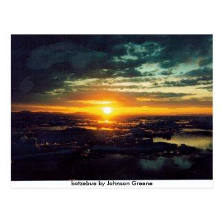 SUN SET GJ, kotzebue by Johnson Greene Postcard