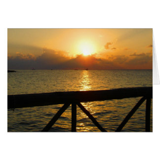 Sun Set - Mexico Greeting Card