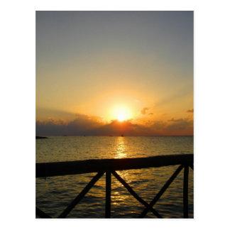 Sun Set - Mexico Postcard