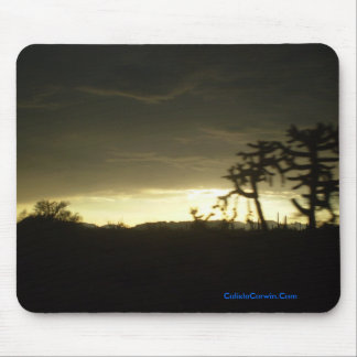 Sun Set Mouse Pad with Cactus
