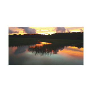 Sun Set over the Marsh Canvas Print