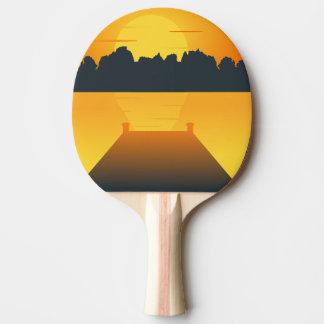 sun set ping pong paddle
