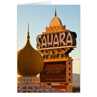 Sun Sets On The Sahara Card
