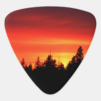 Sun Setting Guitar Pick