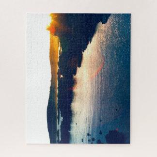 Sun setting on the Cliffs Jigsaw Puzzle