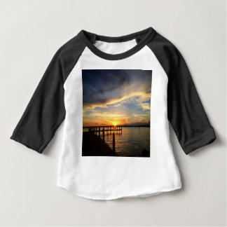 Sun Setting on the Gulf of Mexico from the Dock Baby T-Shirt