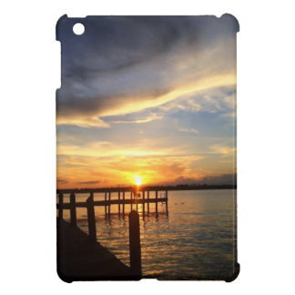 Sun Setting on the Gulf of Mexico from the Dock Case For The iPad Mini