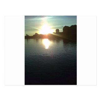 Sun Setting on the Thames Postcard