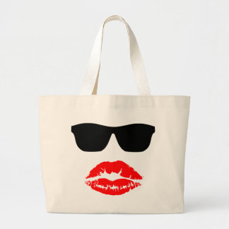 Sun Shades and Lipstick Kiss Canvas Bags