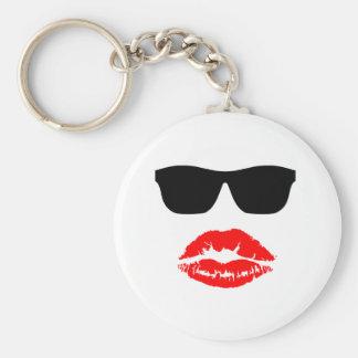 Sun Shades and Lipstick Kiss Keychain