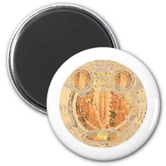 Sun Shine Golden Flames 6 Cm Round Magnet