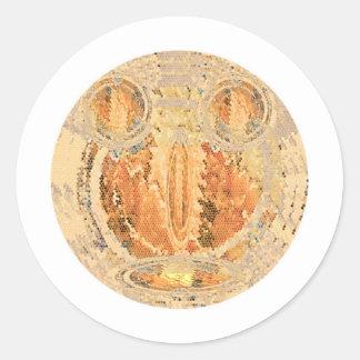 Sun Shine Golden Flames Round Sticker