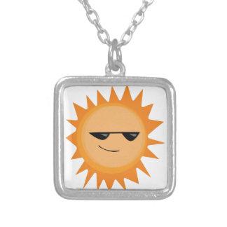 Sun Shine Square Pendant Necklace