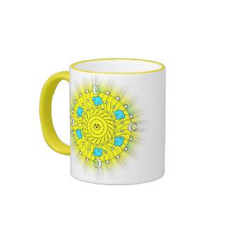 Sun Shining Ringer Coffee Mug