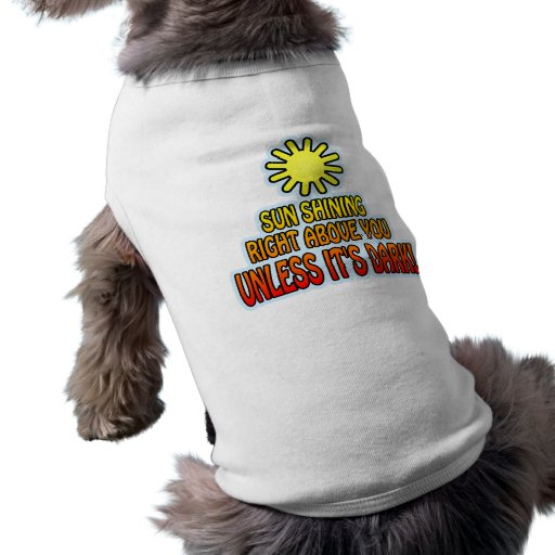 Sun shining right above you, UNLESS IT'S DARK ;) Pet Shirt