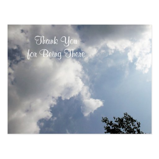 Sun Shining Through Dark Clouds Thank You Post Card