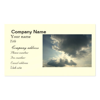 Sun shining through the clouds business card