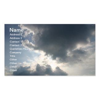 Sun shining through the clouds business card templates