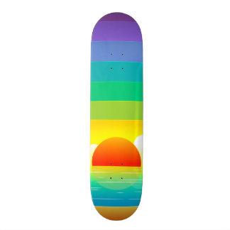 sun skateboard deck