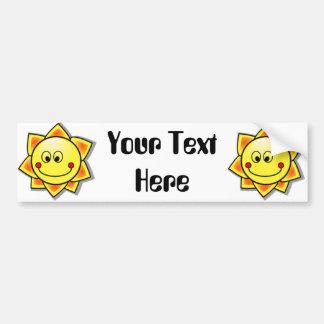 Sun Smiley, Happy Sun Car Bumper Sticker