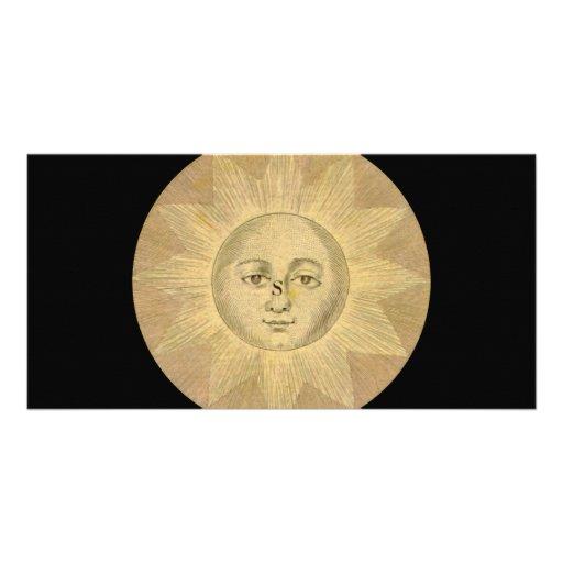 Sun - Solar Detail from Antique Map circa 1780 Photo Card Template