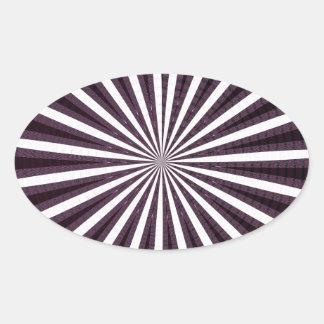 SUN Sparkle Artistic Chakra Wheel Circular Round Oval Sticker
