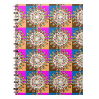 SUN sparkle chakra sunflower art by NavinJOSHI Spiral Notebook