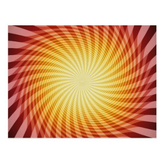 Sun Spiral: Abstract Art: Postcard