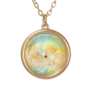 Sun Spot Round Pendant Necklace