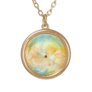 Sun Spot Round Pendant Necklace