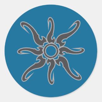 Sun Spot Tribal Glyph Symbol Classic Round Sticker