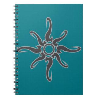Sun Spot Tribal Glyph Symbol Spiral Notebook