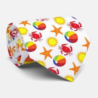 Sun Starfish Crab Beachball Beach Ocean Tie