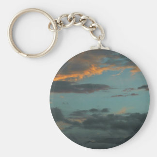 Sun Storm clouds. Basic Round Button Key Ring